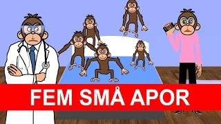 Fem små apor (hoppade i sängen) | Barnsånger på svenska