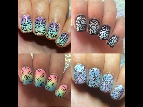 Xxx Mp4 Stamping Nail Art Tutorial And Designs January 2018 3gp Sex