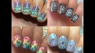 Stamping Nail Art Tutorial and Designs January 2018