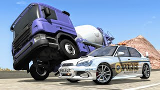 Crazy Police Chases #9 - BeamNG Drive Crashes