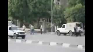 لحظة نزول البلطجية من سيارات الجيش بالعباسية