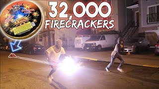 32,000 FIRECRACKERS IN FRONT OF MY FRIENDS HOUSE! *PRANK*