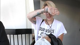 Heavily Tattooed Paris Jackson Returns To LA