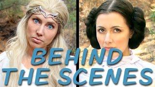 GALADRIEL vs LEIA Behind the Scenes (Princess Rap Battle) *explicit*