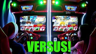Arcade Two Player Versus Racing Game Challenges! Cruis'n Blast & H2Overdrive Superboat Many Races