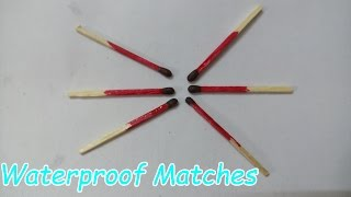 How To Make Waterproof Matches - Survival Hack