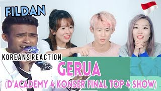 [Korean Reaction] Fildan, Bau Bau - Gerua (D'Academy 4 Konser Final Top 4 Show)