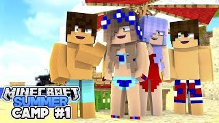 Minecraft Summer Camp-BRITNEY TAGS ALONG w/Little Carly (Minecraft Roleplay)