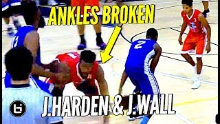 James Harden & John Wall SHOW OUT at Miami Pro League & BREAK ANKLES!!