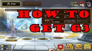 Summoners War - RUSH Hour Arena HOW TO GET G3 - Ep.121