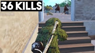 SNEAK ATTACK ON FULL SQUAD | 36 KILLS Duo vs Squad | PUBG Mobile