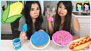 CAKE CHALLENGE! Baking and Decorating a cake with Princess ToysReview