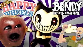 Midget Apple Plays - Happy Wheels: BENDY & THE INK MACHINE!