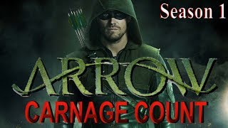 Arrow Season 1 (2012) Carnage Count