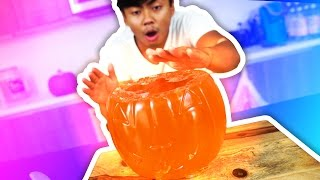 DIY GLOW IN THE DARK JELLO PUMPKIN!