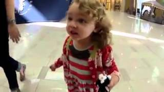 Look reaction of little girl when she hear azan !