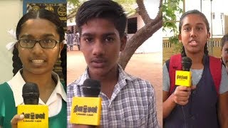 Students View on Board Exam Tamil Paper One