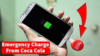 How To Make a Emergency Mobile Phone Charger using Coca Cola || how to charge a phone from coca-cola