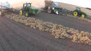 Johanning Farms 2014 Kidney Bean harvest wraps up with Pickett Combines via Drone