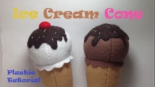 How to Make an Ice Cream Cone Plushie- Tutorial