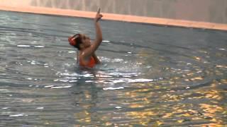 Xonzoda Tashkhodzhaeva synchronized swimming