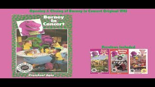 Barney in Concert Original EXTREMELY RARE VHS Opening & Closing (With Previews)