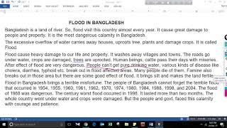 Flood in Bangladesh Composition for JSC/SSC/HSC Bangla Tutorial