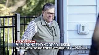 Attorney General William Barr delivered Mueller report's main conclusions to Congress