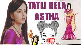 TATLI BELA Astha Hint Kıyafeti Çizimi