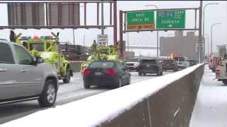 40-vehicle chain reaction crash shuts down part of Kennedy Expressway