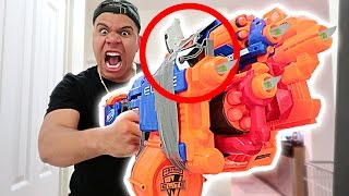EPIC NERF WAR VS GIRLFRIEND!! (DANGEROUS 200MPH NERF GUN)