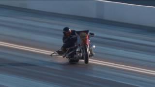 UNBELIEVALBE SAVE in Top Fuel Harley in Las Vegas #NHRA