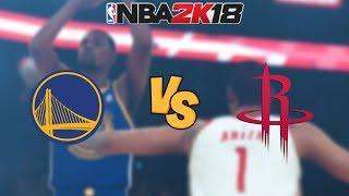 NBA 2K18 - Golden State Warriors vs. Houston Rockets (🔥INSANE BUZZER BEATER🔥) - Full Gameplay