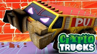 Crypto Trucks | Meet Funky | Carnage Crew | Evil trucks | Good VS Evil | 3D big trucks for kids