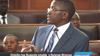 Olukiiko lwa Buganda lutudde e Bulange Mmengo