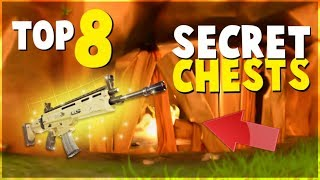 TOP 8 HIDDEN SECRET Chests and Locations (FORTNITE Battle Royale)| Tips and Tricks