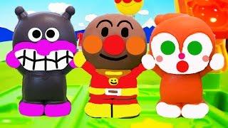 ねんど遊び!ねんどのアンパンマンに色を付けるよ❤バイキンマン ドキンちゃん animation Anpanman Toy