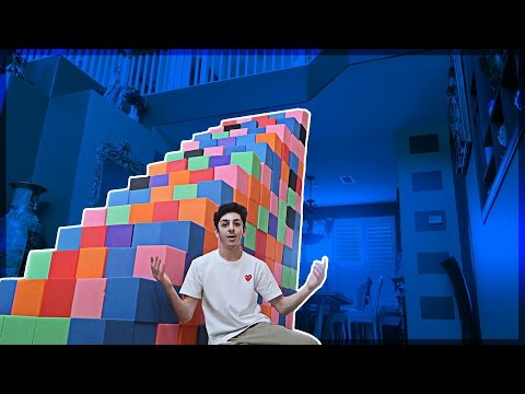 Xxx Mp4 BUILDING A FOAM PIT STAIRCASE ATTEMPTING TO CLIMB UP FaZe Rug 3gp Sex