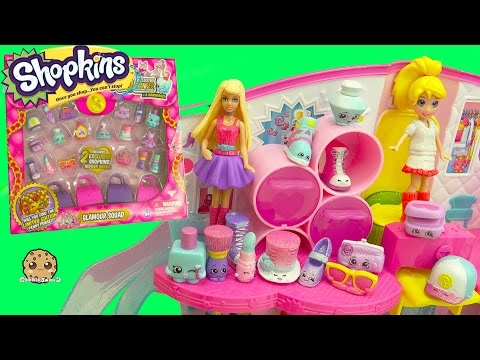 Barbie and Polly Meet Glamour Squad Glitter Shopkins 20 Pack with 2 Exclusives Blind Bags
