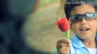 Small boy proposing big girl....