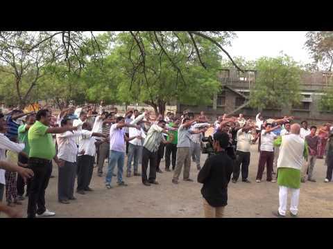 Laughter Yoga Session at Bellary Park, Karnataka, India