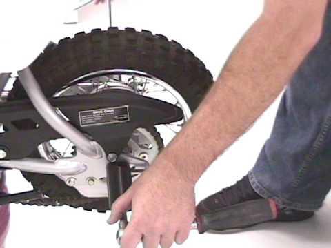 50 STUNT CRF50XR50 REAR STUNT PEG INSTALL VIDEO