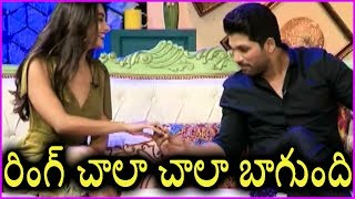 Pooja Hegde Distracting Allu Arjun With Her Beautiful Ring | Latest Interview | DJ Movie