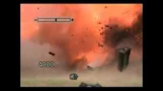 Missil acerta o alvo com precisão. Tanque destruído com sucesso.