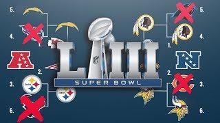 2019 NFL PLAYOFF PREDICTIONS!! FULL PLAYOFF BRACKETS! SUPER BOWL 53 WINNER!