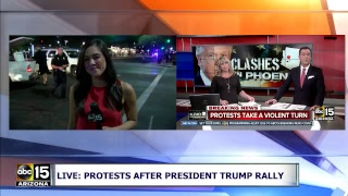 LIVE: VIOLENT PROTEST! Tear gas deployed outside Trump rally in Phoenix, Arizona