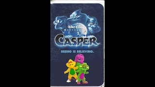 Barney Meets Casper: The Movie 1995 VHS (Masterpiece Collection)