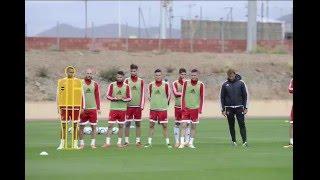 فيديو..تدريبات المنتخب المغربي اليوم