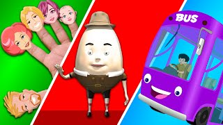 the wheels on the bus | finger family | nursery rhymes for kids | baby rhymes
