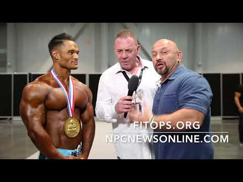 2017 IFBB MEN'S PHYSIQUE OLYMPIA JEREMY BUENDIA INTERVIEWED BY TONY DOHERTY